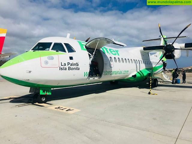 Avión Binter `La Palma Isla Bonita´