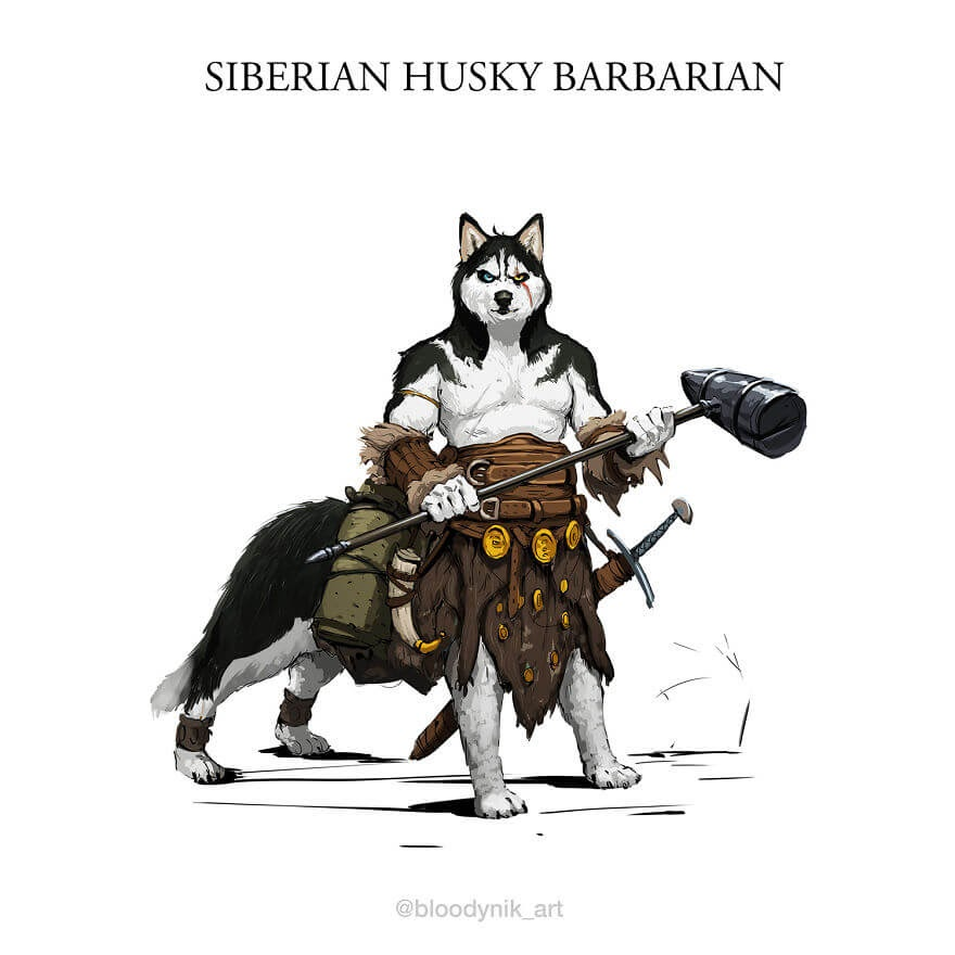 04-Husky-Barbarian-Nikita-Orlov-Mythical-Dog-Centaur-Digital-Paintings-www-designstack-co