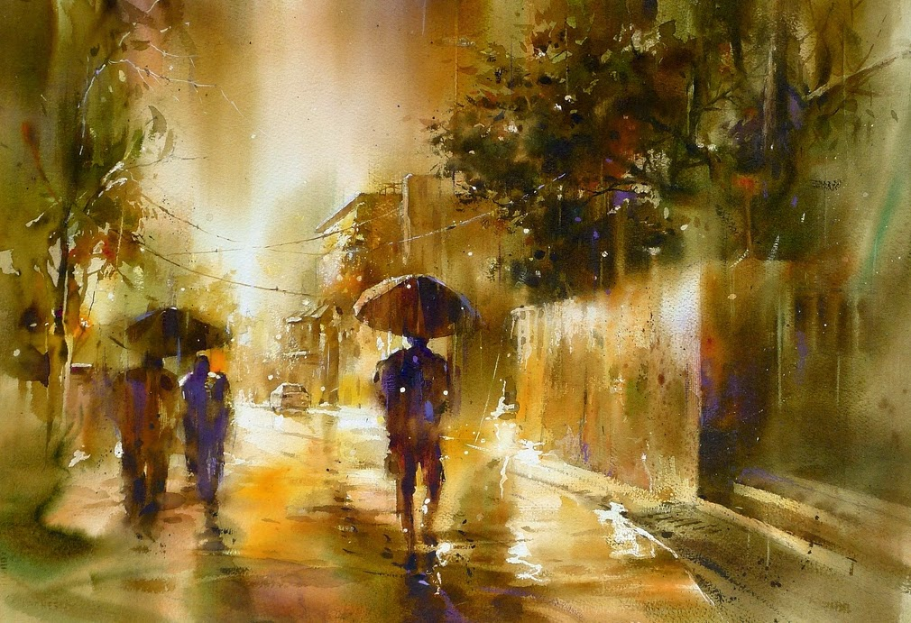 11-Lin Ching-Che 林經哲-Dreamlike-Watercolor-Paintings-in-the-City-www-designstack-co