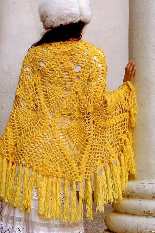 Crochet Shawls: Crochet Shawl Pattern - Semicircular Lace ...
