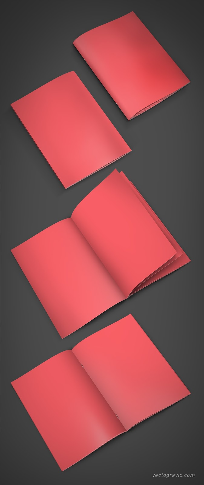 A4 Booklet PSD Mockups