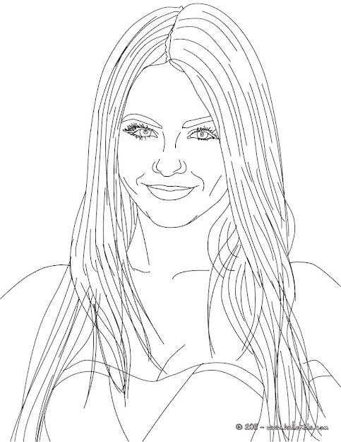 Victoria Justice American Singer Coloring Page
