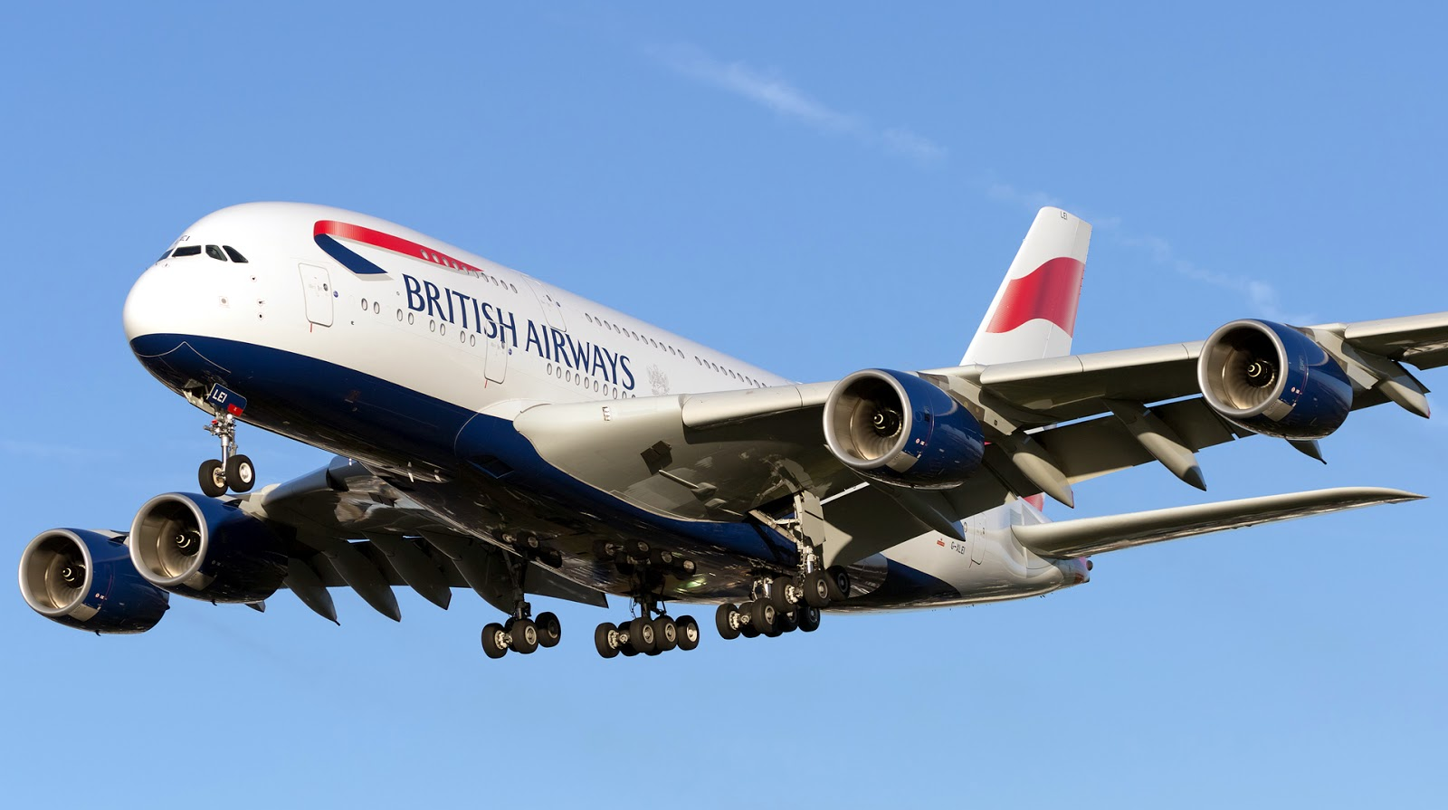 Airbus A380-800 of British Airways Landing Gear Retracted Down
