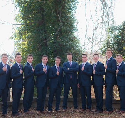 Tori Bates and Bobby Smith wedding groomsmen