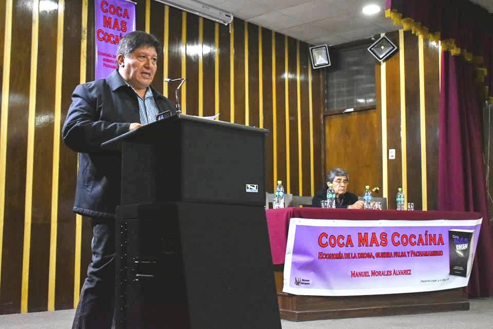 Manuel Morales Álvarez en al presentación de su libro el pasado 21 de noviembre / FACEBOOK