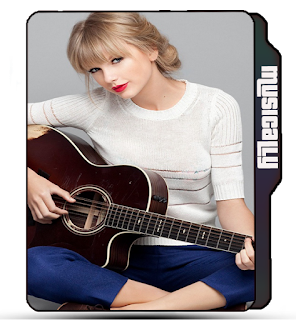 Preview of Cute Taylor Swift with guitar photo wallpaper icon