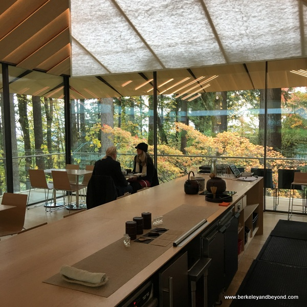 interior of Umami Cafe at Portland Japanese Garden in Portland, Oregon