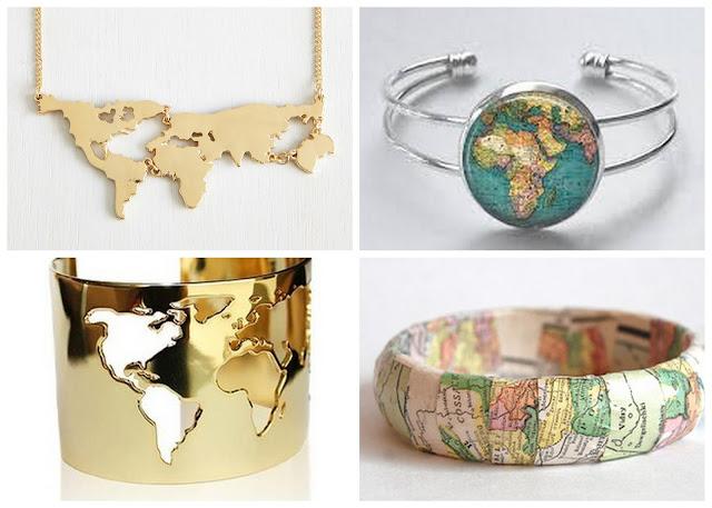 Что подарить путешественнику? идеи подарков для любителя путешествий браслет карта мира