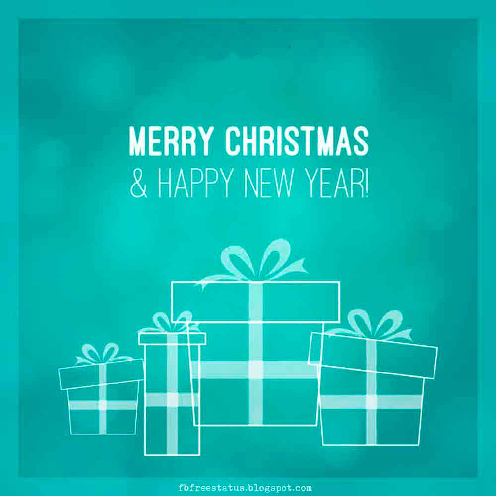 Merry Christmas Images and Happy New Year Wishes Images with New Year Quotes.