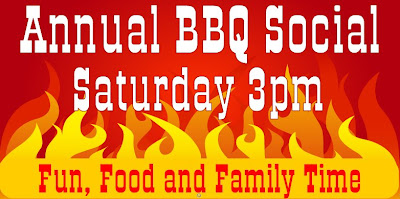 Annual BBQ Special Saturday 3pm Fun, Food, and Family Time