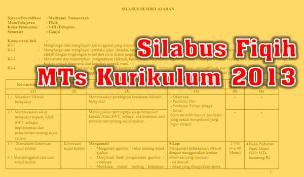 Silabus Fiqih MTs Kelas VII dan VIII Kurikulum 2013 Semester 1 dan 2