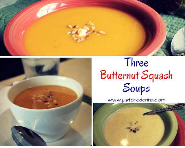 Three Butternut Squash Soups