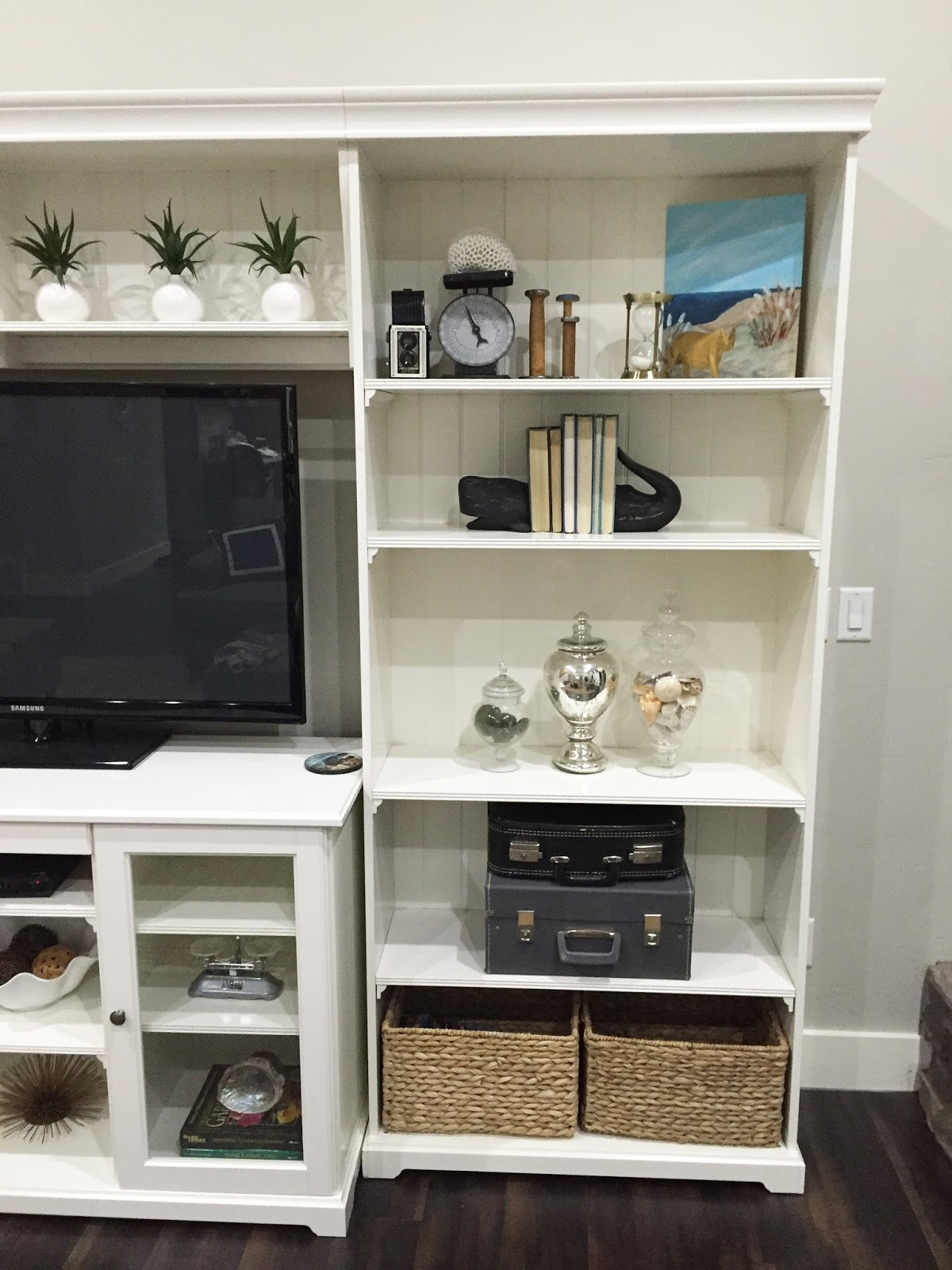 tv of beautiful reveal bookcase combination shelf living displays room media liatorp our bookcases