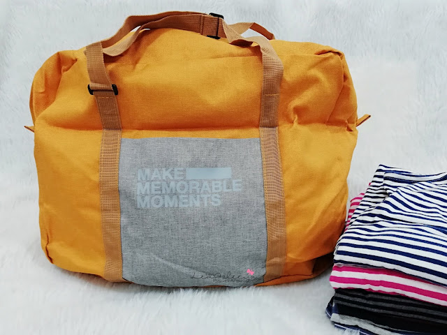 Suede Foldable Travel Bag Dari PTT Outdoor