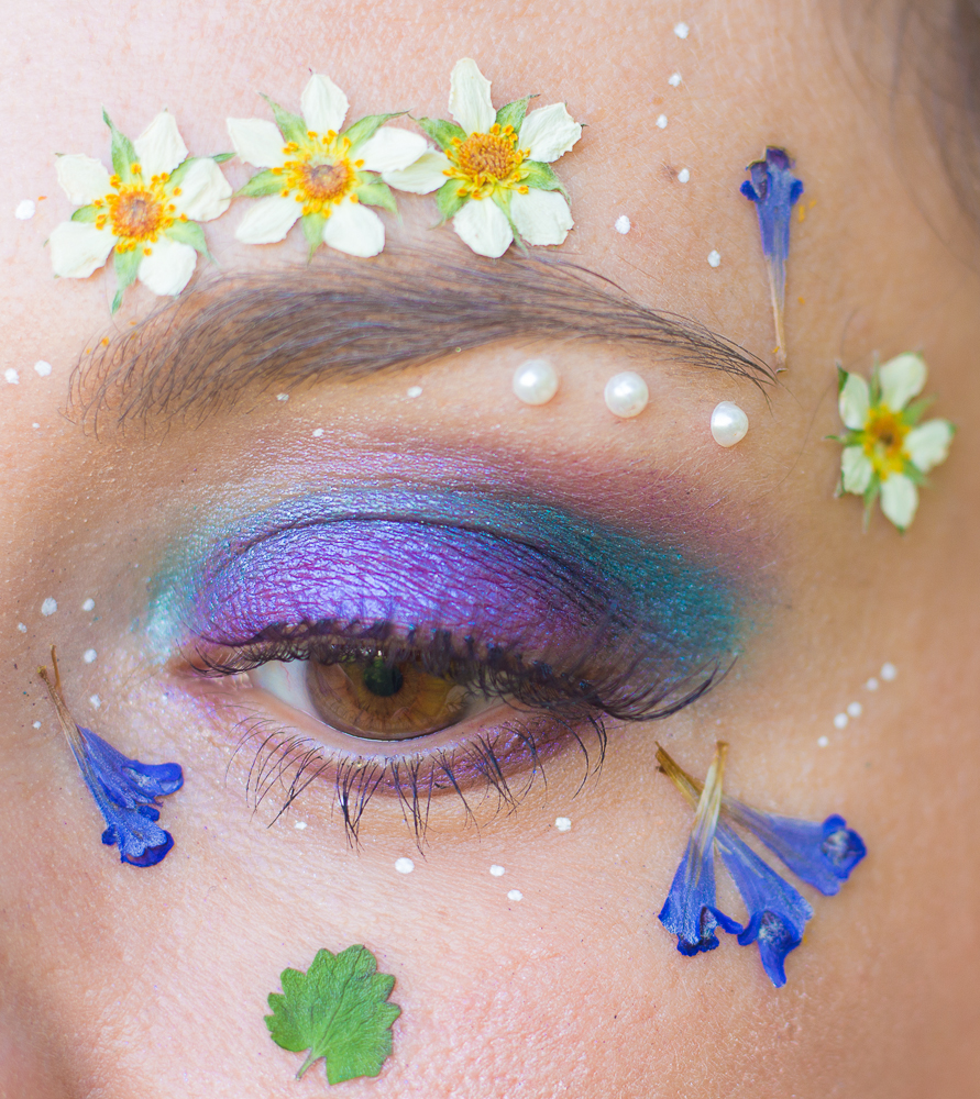 maquillage - fleuri - printemps - tutoriel