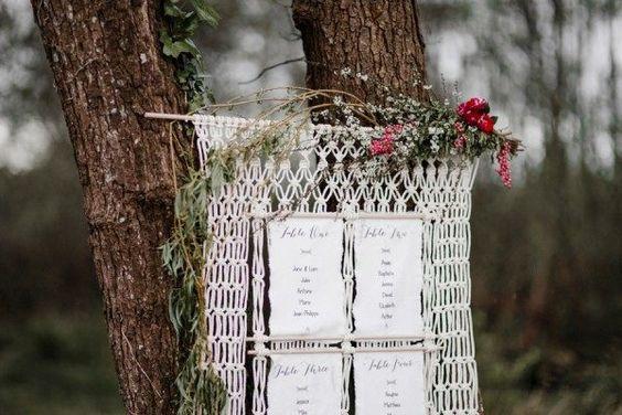 macrame seatting - decora tu boda con macrame