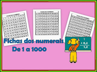 Fichas de numerais matemática