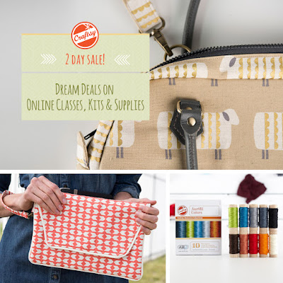 Craftsy sale on bag making classes and supplies