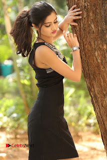 Actress Poojitha Pallavi Naidu Stills in Black Short Dress at Inkenti Nuvve Cheppu Movie Platinum Disc Function  0007.JPG