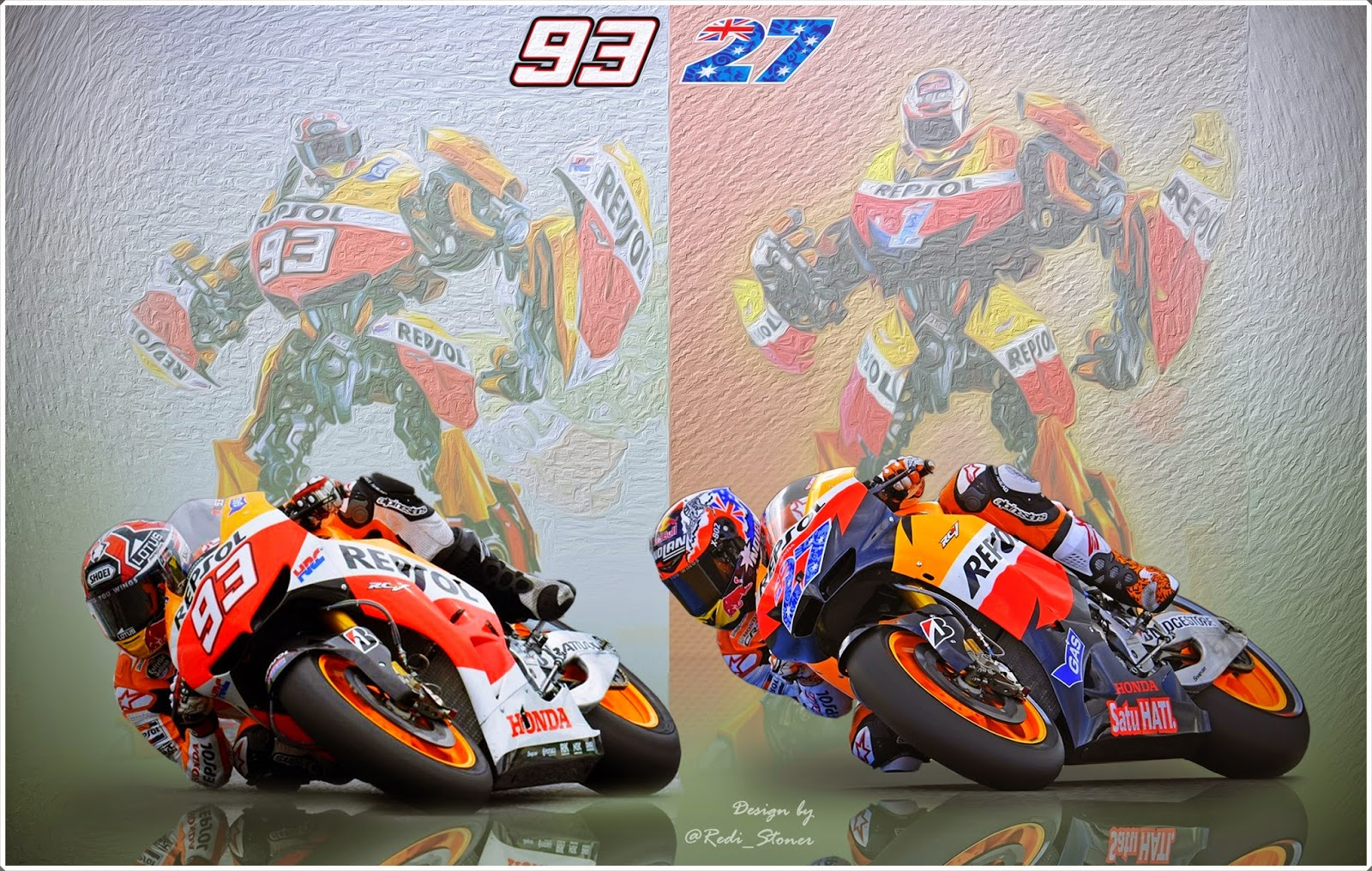 Redi Stoner Casey Stoner And Marc Marquez Wallpaper