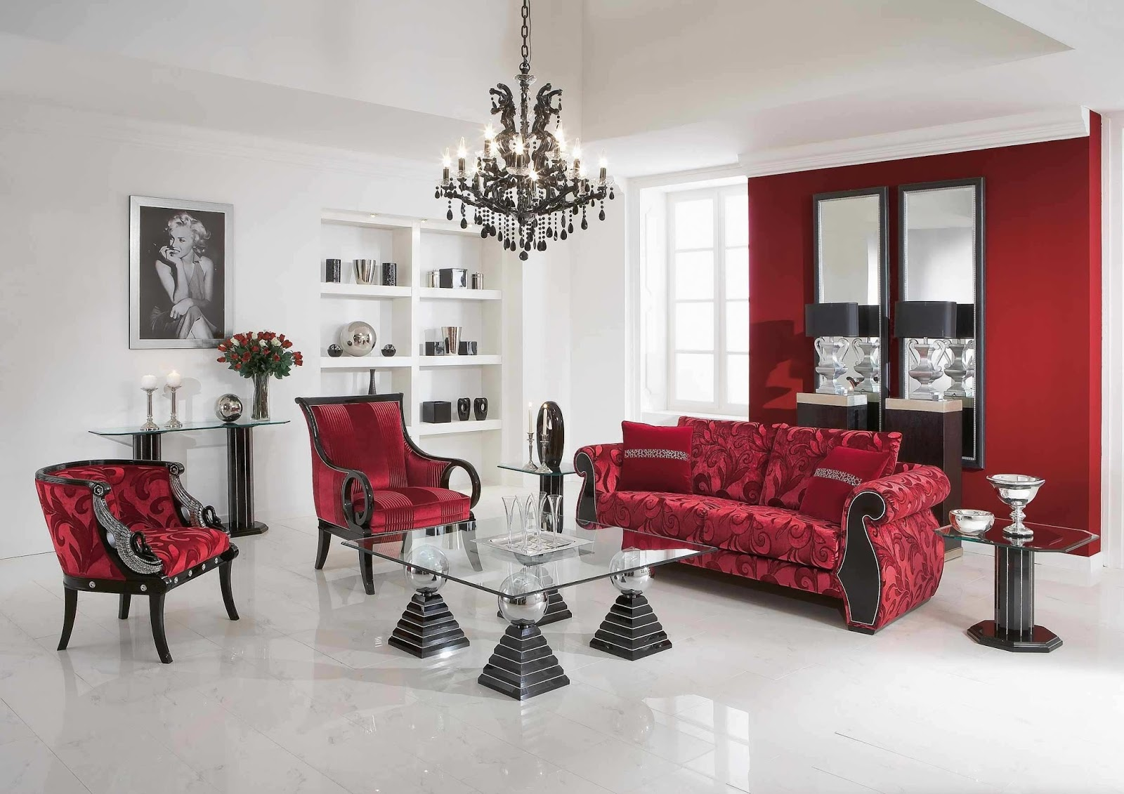Scandi Parlor With Red And Florals ! Home Decor