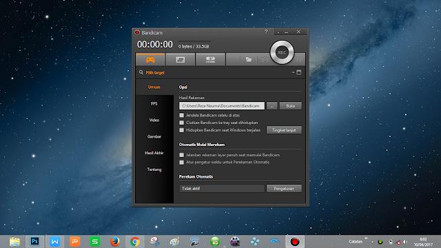 aplikasi untuk merekam tampilan gambar monitor komputer untuk main game seperti bang tara