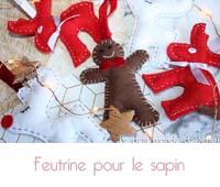 Décoration de Noël   Des figurines en feutrine