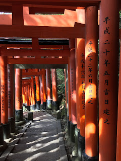 Red gates in Fushimi Inari is more than 1000