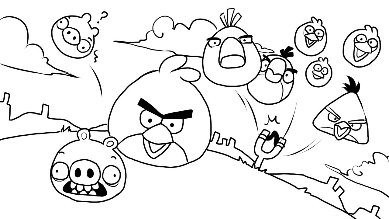 Brinquedos de Papel: Desenhos dos Angry Birds para Colorir