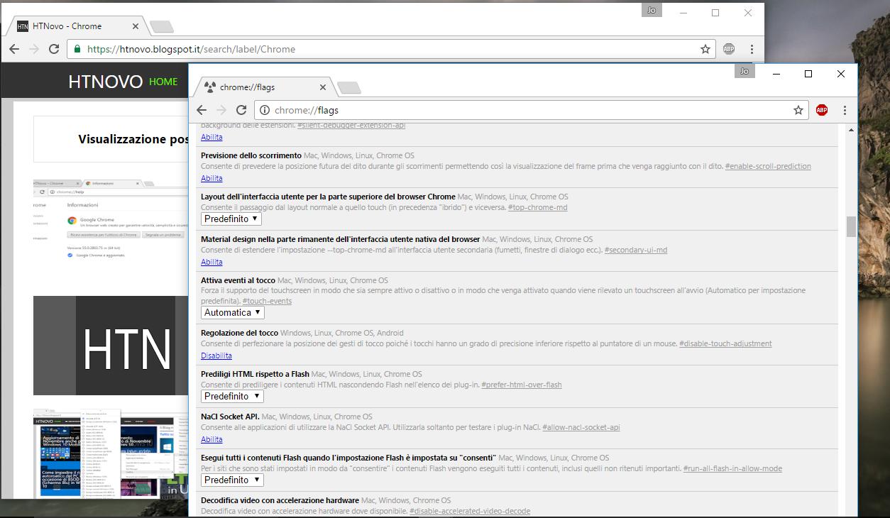 Come modificare la grandezza degli elementi UI di Google Chrome HTNovo