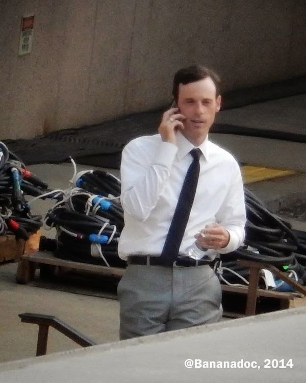 Scoot McNairy en el rodaje de 'Batman V Superman: Dawn of Justice'