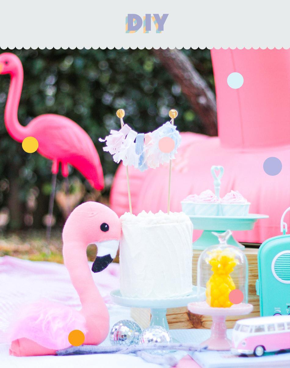 diy flamingo de meia