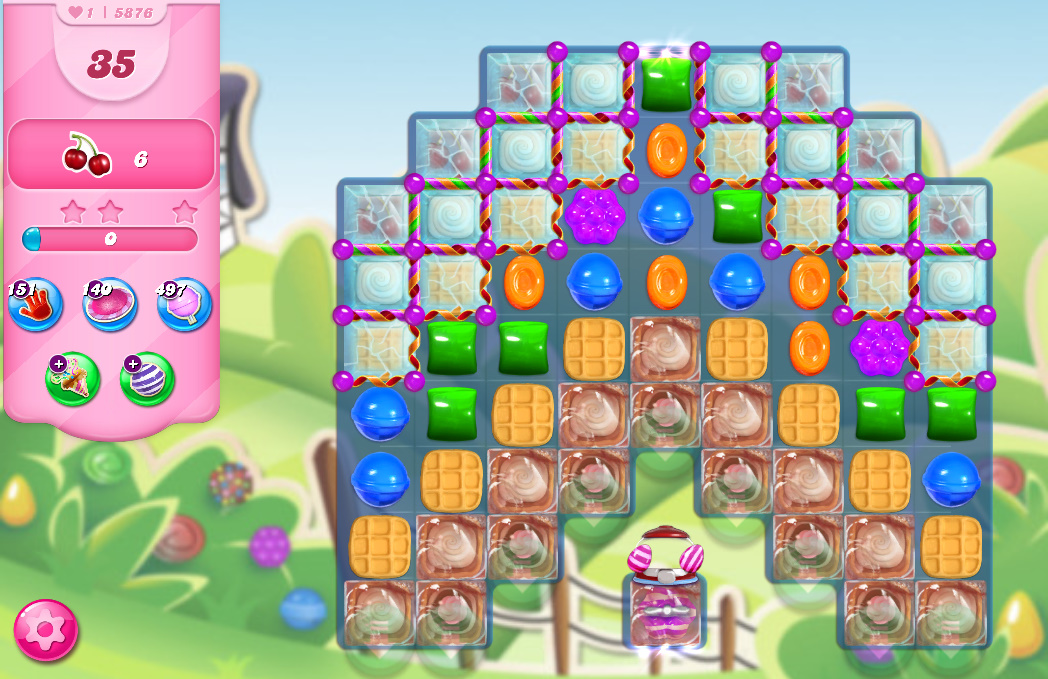 Candy Crush Saga level 5876