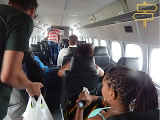 Avião da Searca por dentro