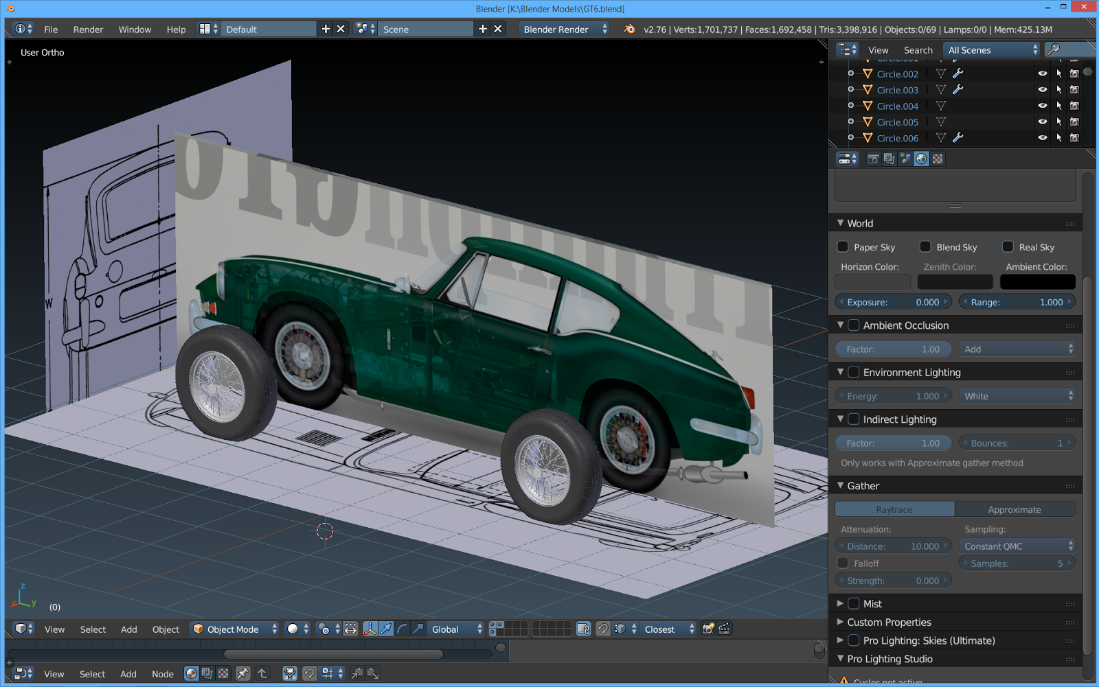 The tinkers workshop blender 3d 1967 triumph gt6 project i then put the blueprint along with the colored broadside view of the car into blender and aligned them so i could get an accurate layout to set up the body malvernweather Image collections