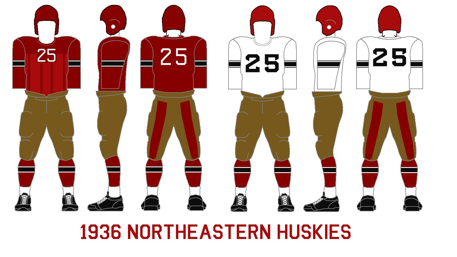 purchase cheap 58b92 7cd79 Gridiron Garb: Northeastern Huskies (1936)