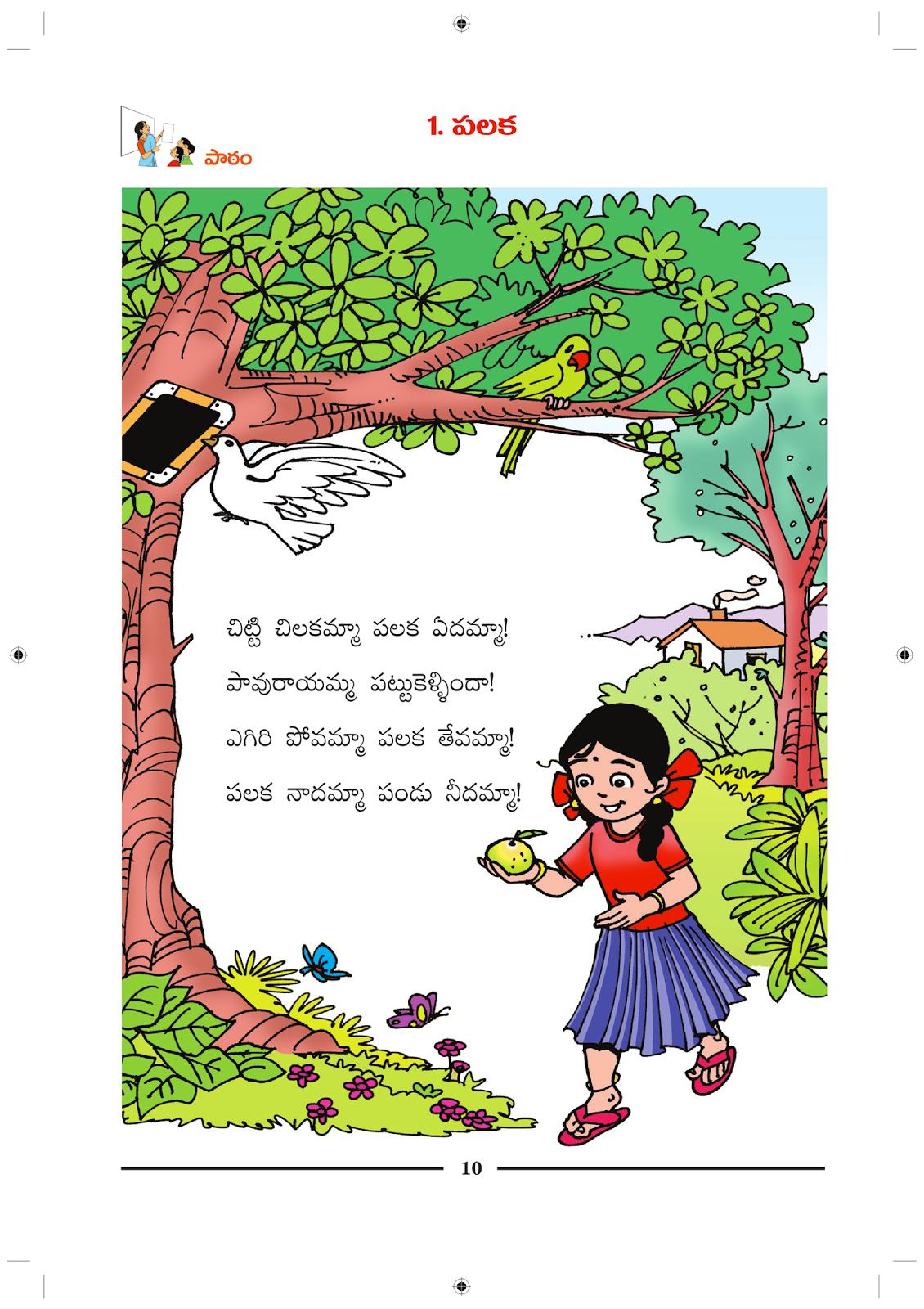 Telugu Picture Reading Video Lesson Palaka