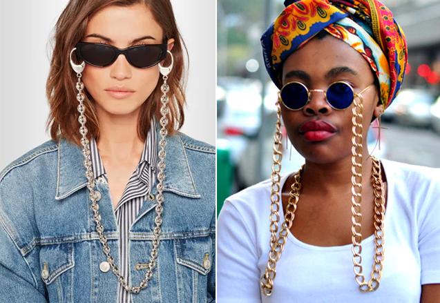 4c4f6d4564f10 Segundo a Revista Glamour, a moda começou no Rio de Janeiro, pra deixar o  momento óculos escuro mais prático e confortável.