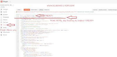 Penempatan Kode HTML Tag Pada Blog
