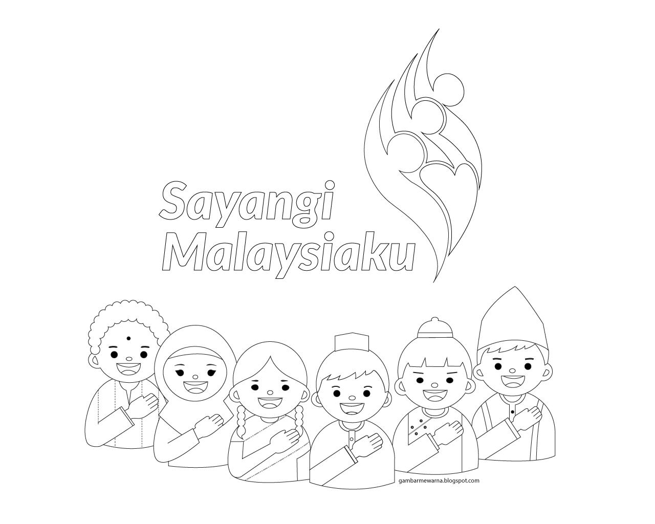 Lukisan Contoh Poster Kemerdekaan Malaysia