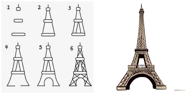 Jak narysować Wieżę Eiffla? - instrukcja - Francuski przy kawie