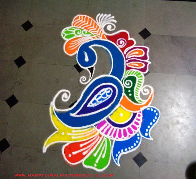 Free Hand Rangoli Designs Latest Images 2016
