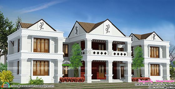 Arabic style house plan in India
