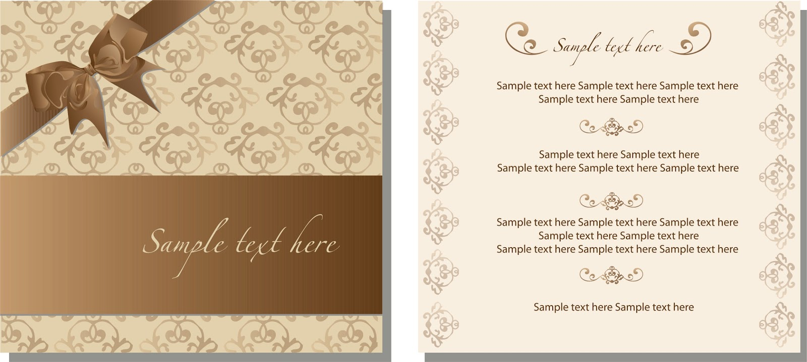 Invitation Card Design A4 A3