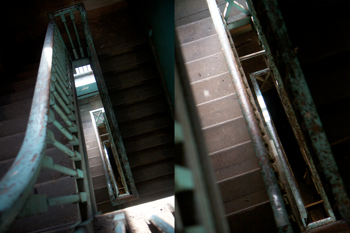 "Brunswick Club ""Dark"" House stairs - Melanie Clifford"
