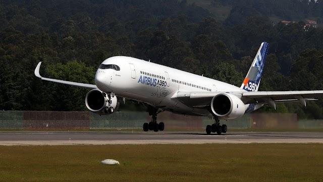El nuevo avión comercial estrella de Airbus prueba sus alas en Galicia
