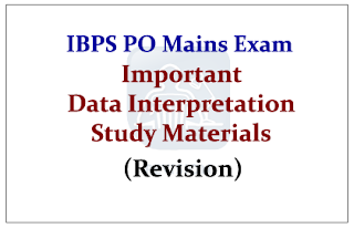 IBPS PO Mains- Important Data Interpretation Study Materials (Make Your Revision Effective)