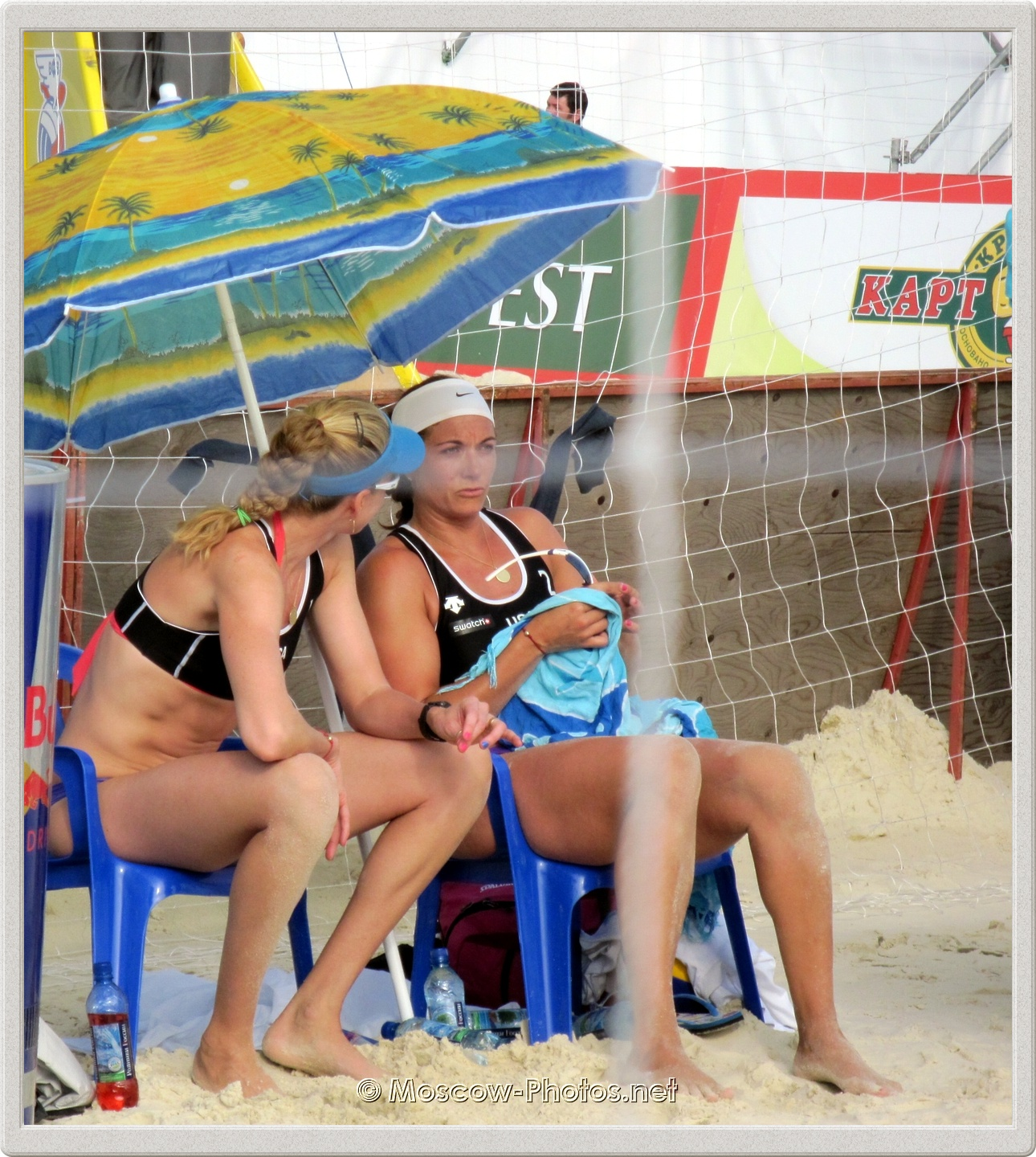 Kerri Walsh & Misty May-Treanor During The Break