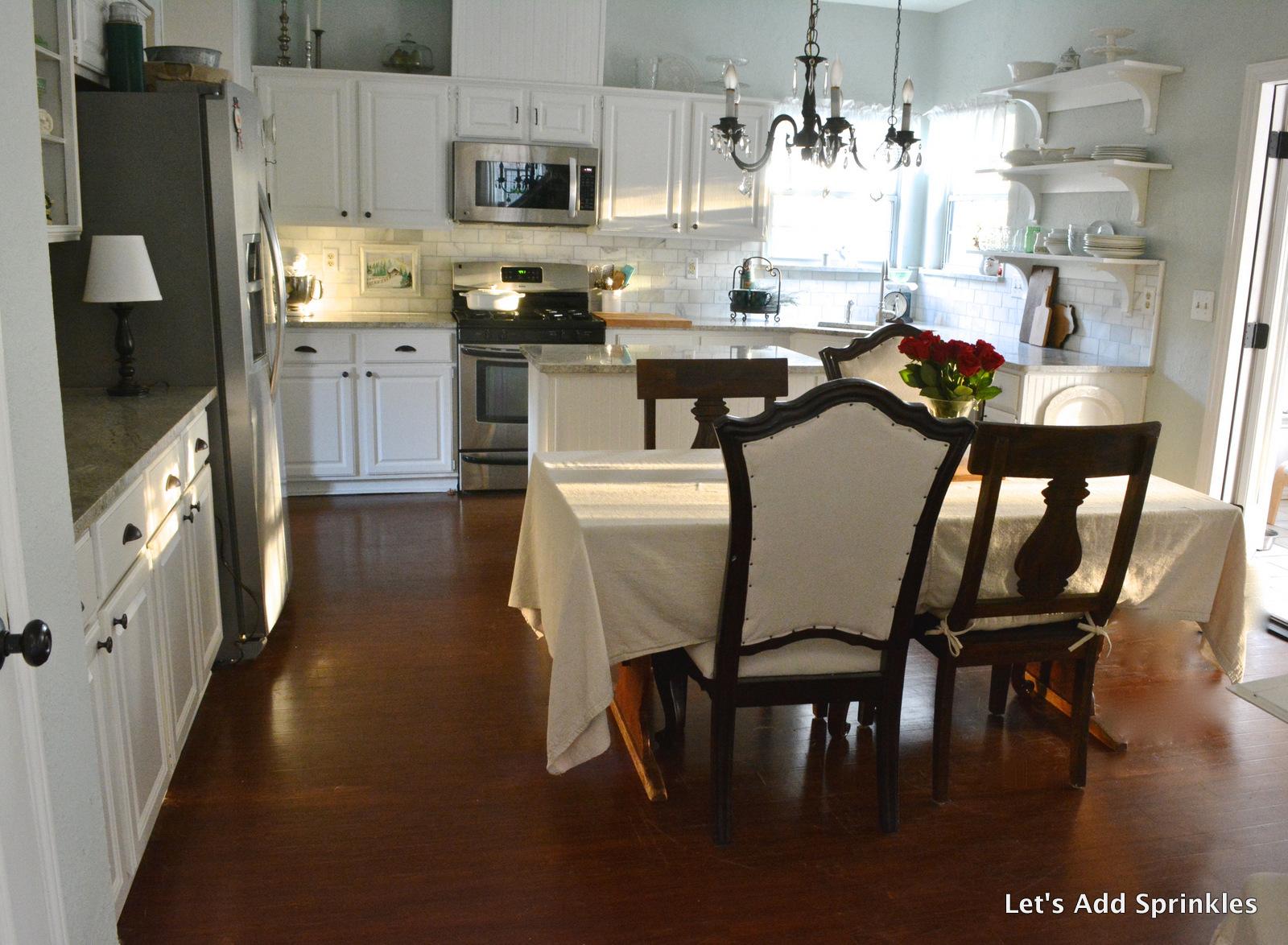 Kitchen   Custom Mix Blue/Green Kitchen Cabinets Snowbound By Sherwin  Williams