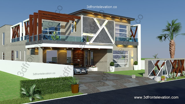 3d front for Bahria town islamabad home designs